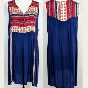 UMGEE USA Sleeveless Boho Hippie Peasant Tunic